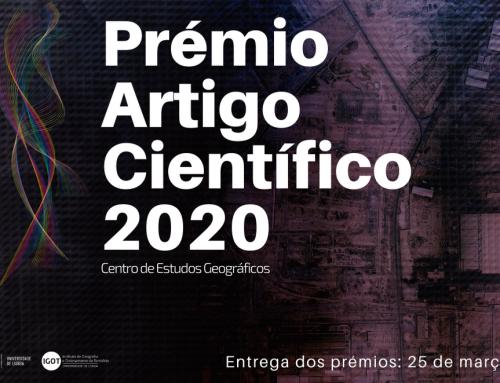 Prémio Artigo Científico 2020 do Centro de Estudos Geográficos